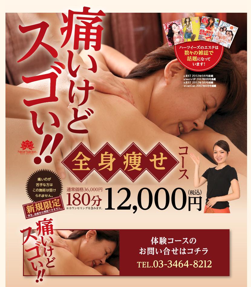 痛いけどすごい!全身痩せ12,000円キャンペーン!